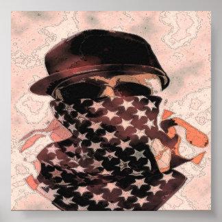Gangsta Hip Hop Skull Poster