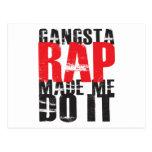 Gangsta Rap Made Me Do It - Black Postcards