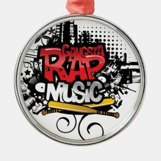 Gangsta Rap Music Christmas Ornament