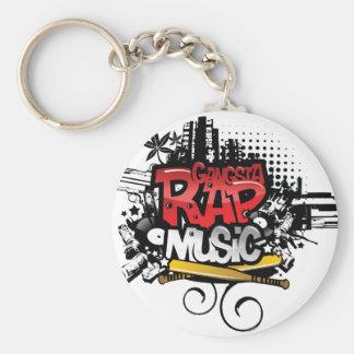 Gangsta Rap Music Keychain