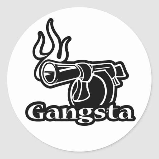 Gangsta Round Sticker