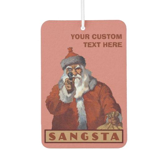 Gangsta Santa custom car air freshner Car Air Freshener