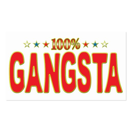 Gangsta Star Tag Business Card Templates