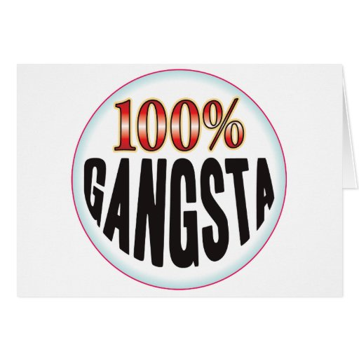Gangsta Tag Greeting Cards