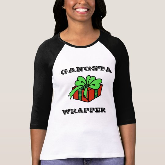 Gangsta wrapper funny Christmas T-shirt