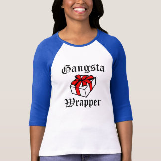 Gangsta Wrapper funny women's Christmas shirt