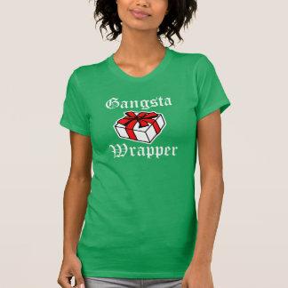 Gangsta Wrapper funny women's Christmas shirt