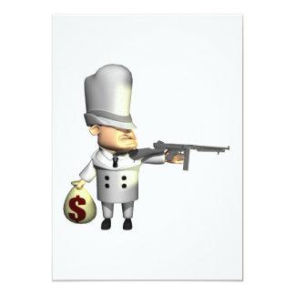 Gangster 13 Cm X 18 Cm Invitation Card