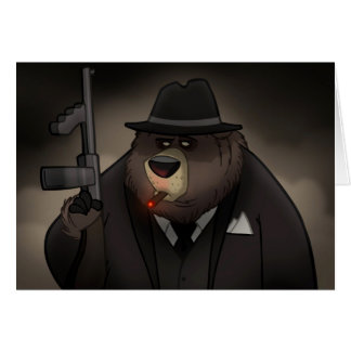 Gangster Bear Card