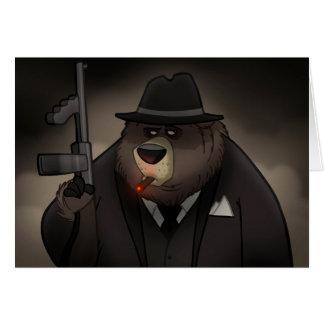 Gangster Bear Card