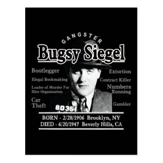 Gangster Bugsy Siegel Post Cards