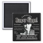 Gangster Bugsy Siegel Square Magnet