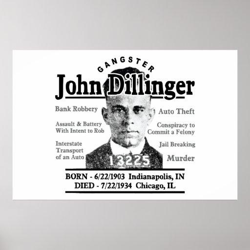 Gangster John Dillinger Poster