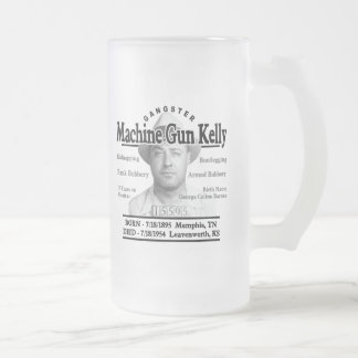 Gangster Machine Gun Kelly Frosted Glass Mug