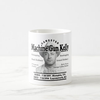 Gangster Machine Gun Kelly Basic White Mug