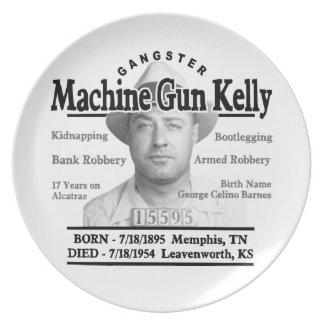Gangster Machine Gun Kelly Dinner Plate