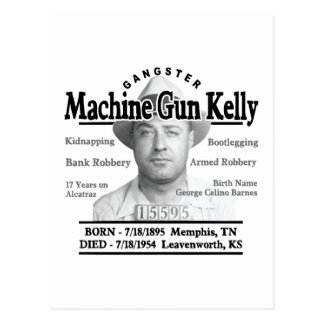 Gangster Machine Gun Kelly Postcard