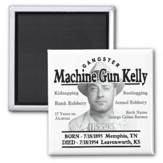 Gangster Machine Gun Kelly Square Magnet