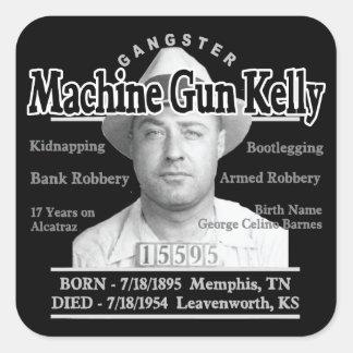 Gangster Machine Gun Kelly Square Sticker