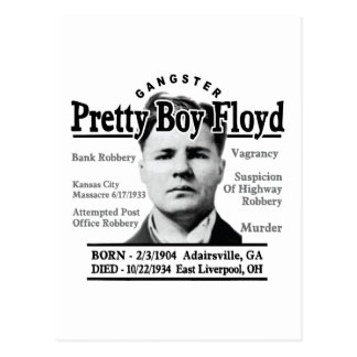 Gangster Pretty Boy Floyd Postcard