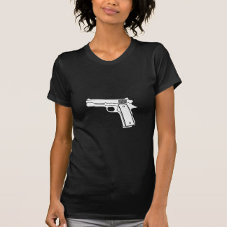 Gangster Retro Handgun Ransom T-shirt For Ladies