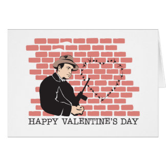Gangster Valentine s Day Greeting Card