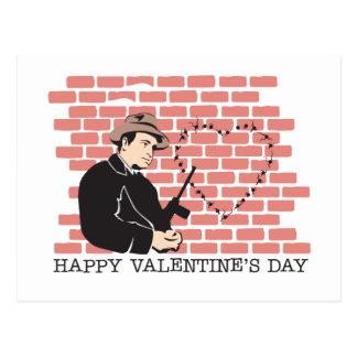 Gangster Valentine's Day Postcard