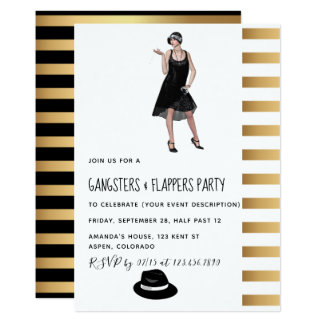 Gangsters and Flappers Party Invitation