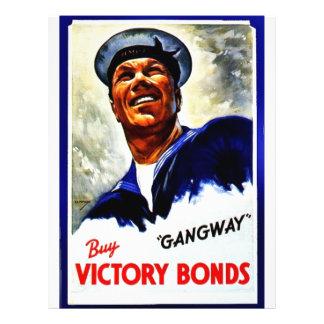 Gangway, Buy Victory Bonds Flyer Design