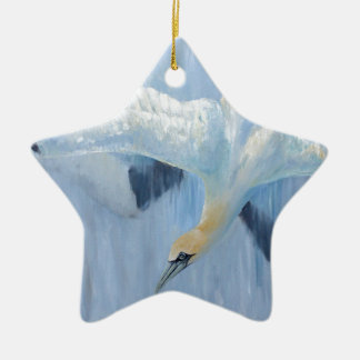 Gannets diving unique gifts for you ceramic star decoration