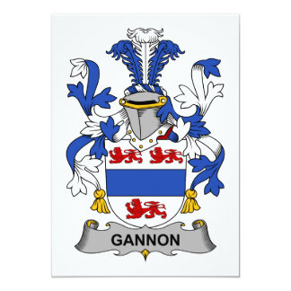 Gannon Family Crest Card