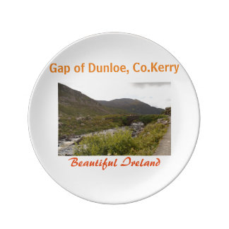 Gap of dunloe one finest landscapes in ireland plate