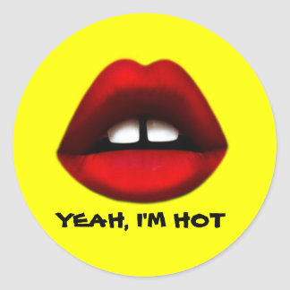 Gapped tooth girl, Yeah I'm hot, stickers
