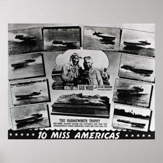 Gar Wood 10 Miss Americas Posters