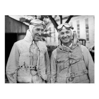 "Gar Wood and Orlin Johnson - Vintage ""Autographed"" Postcard"