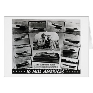 Gar Wood and Ten Miss America Race Boats Greeting Card