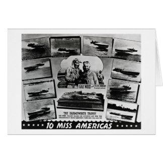 Gar Wood and Ten Miss America Race Boats Greeting Card
