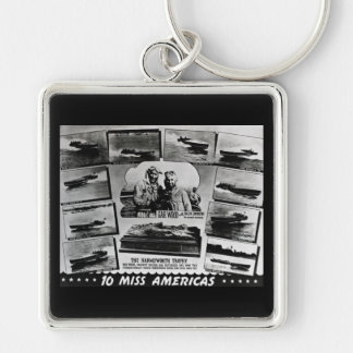Gar Wood and Ten Miss America Race Boats Key Ring