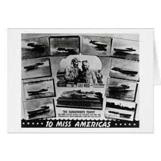 Gar Wood Vintage Speedboat Racing Miss Americas Greeting Card