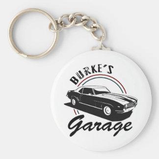 Garage Basic Round Button Key Ring