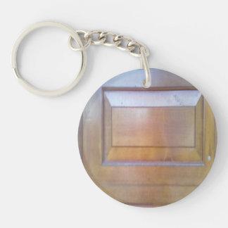 Garage door Double-Sided round acrylic key ring