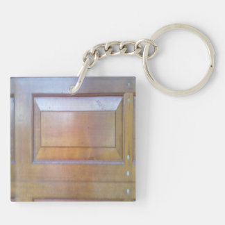 Garage door Double-Sided square acrylic key ring