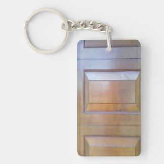 Garage door Double-Sided rectangular acrylic key ring
