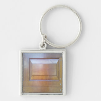 Garage door Silver-Colored square key ring