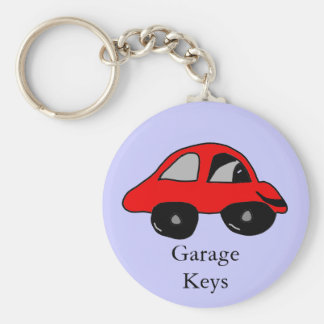 Garage Keys Basic Round Button Key Ring