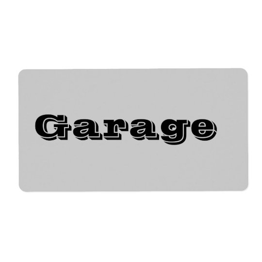 Garage Moving Labels in Grey