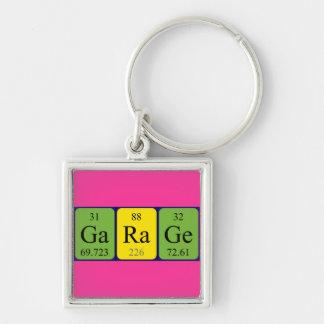 Garage periodic table keyring key chain
