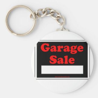 Garage Sale Basic Round Button Key Ring
