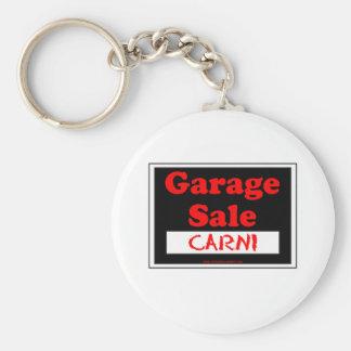 Garage Sale Carni Basic Round Button Key Ring