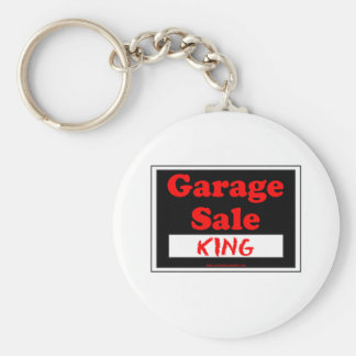 Garage Sale King Basic Round Button Key Ring